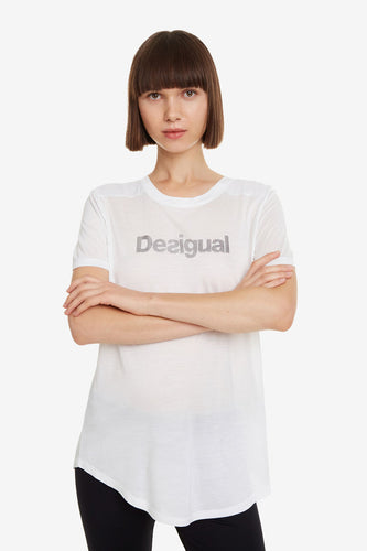 Desigual Essentials White Sport T-Shirt