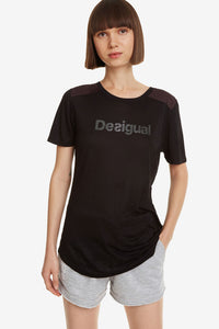 Desigual Essentials Black Sports T-Shirt