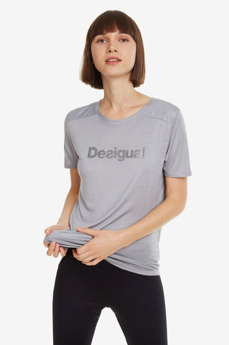 Desigual Essentials Grey Sports T-shirt