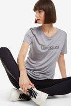 Load image into Gallery viewer, Desigual Essentials Grey Sports T-shirt