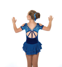 Load image into Gallery viewer, J207/18 Cobalt Cut-Out Dress - Child 8-10