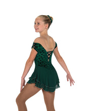 Load image into Gallery viewer, J213/18 Emerald Green Gemology Dress