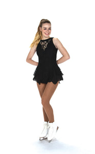 J219/18 Jet Black Champagne Sequins Dress