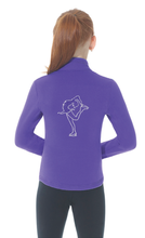Load image into Gallery viewer, MD24482 Mondor Rhinestone Polartec Jacket Purple
