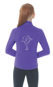 MD24482 Mondor Rhinestone Polartec Jacket Purple