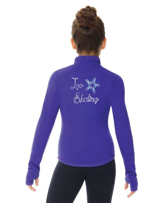 MD24489 Mondor Polartec Rhinestones Jacket Purple