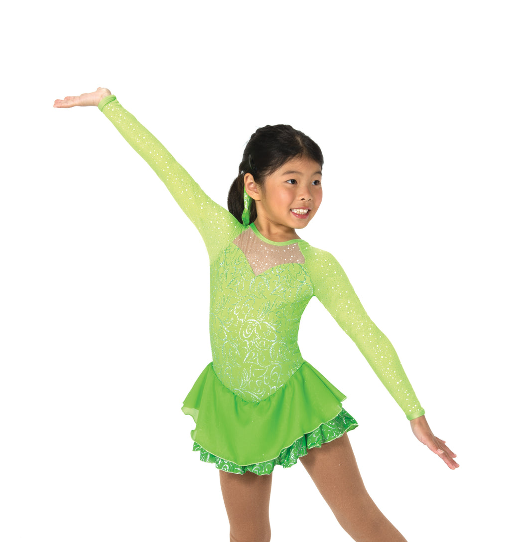 J040/17 A Twist of Lime Dress - Child 10-12