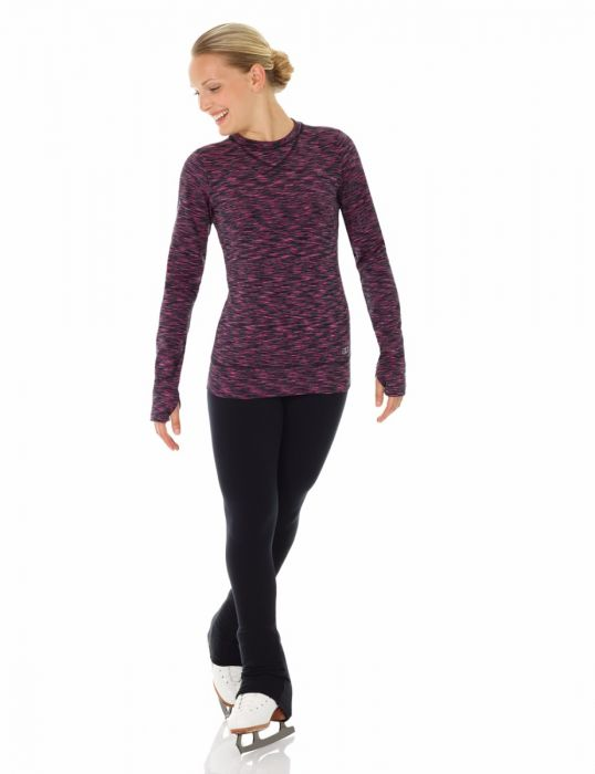 MD4501 Mondor Long Sleeve Black Fuchsia Shirt