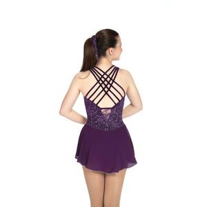 J475/20 Starlit Lace Dress - Deep Purple