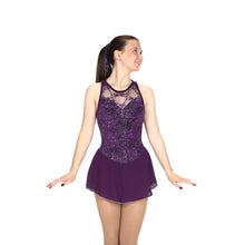 Load image into Gallery viewer, J475/20 Starlit Lace Dress - Deep Purple