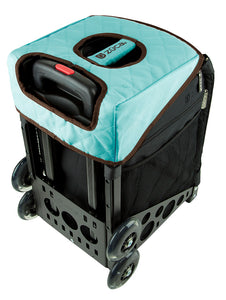 Zuca Turquoise/Brown Seat Cover