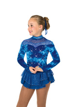 Load image into Gallery viewer, J55/17 Royal Blue Crystalline Dress