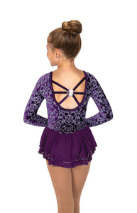 J056/19 Nicely Icy Dress Deep Purple