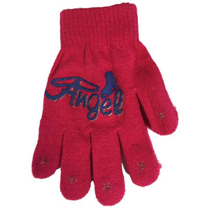 Youth Magic Stretch Gloves with Angel Skate Logo