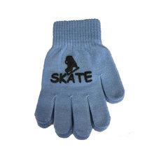 Load image into Gallery viewer, Youth Magic Stretch Gloves with Ice Skate Logo