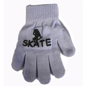 Youth Magic Stretch Gloves with Ice Skate Logo
