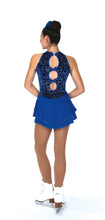 Load image into Gallery viewer, J079/19 Swoop of Loops Dress Royal Blue
