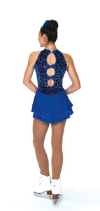 J079/19 Swoop of Loops Dress Royal Blue