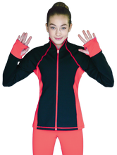 Load image into Gallery viewer, JS792 ChloeNoel Elite Colour Contrast Jacket Coral