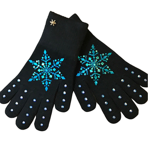 Frozen Couture Snowflake Gloves - Blue