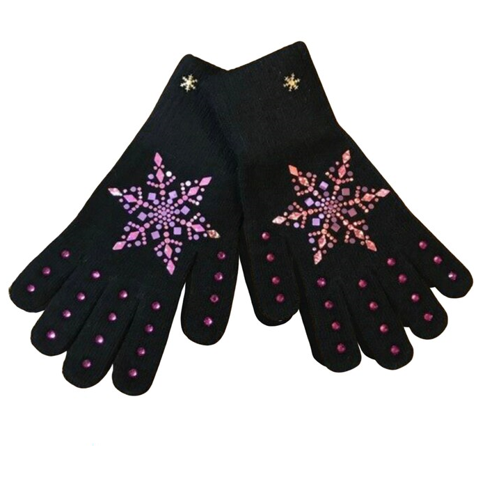 Frozen Couture Snowflake Gloves - Pink