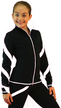 Load image into Gallery viewer, J36X ChloeNoel Crystal Spiral Jacket White