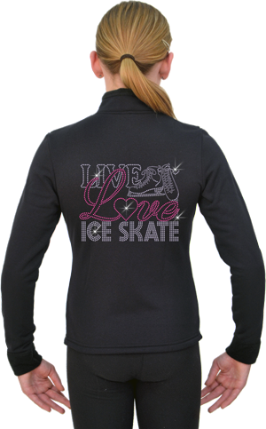 J11X ChloeNoel Crystal Live Love Skating Jacket