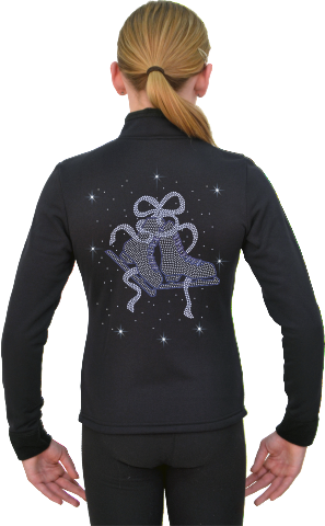 J11X ChloeNoel Crystal Skate Ribbon Blue Jacket
