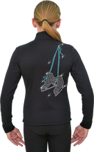Load image into Gallery viewer, J11X ChloeNoel Crystal Skate Lace Jacket Turquoise