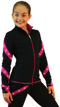 Load image into Gallery viewer, J36X ChloeNoel Crystal Spiral Jacket Fuchsia