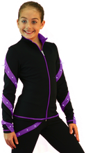 Load image into Gallery viewer, J36X ChloeNoel Crystal Spiral Jacket Purple