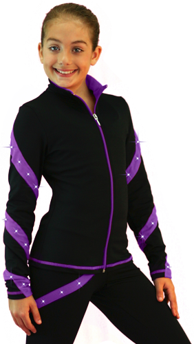 J36X ChloeNoel Crystal Spiral Jacket Purple