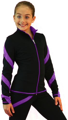 J36 ChloeNoel Spiral Jacket Purple
