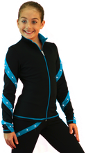 Load image into Gallery viewer, J36X ChloeNoel Crystal Spiral Jacket Turquoise