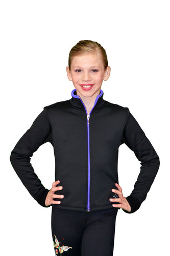 J48 ChloeNoel Coloured Zipper Fitted Polar Fleece Jacket - Purple