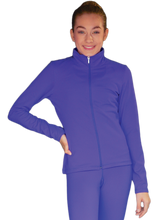 Load image into Gallery viewer, JT811 ChloeNoel Elite Fleece Fitted Jacket Periwinkle