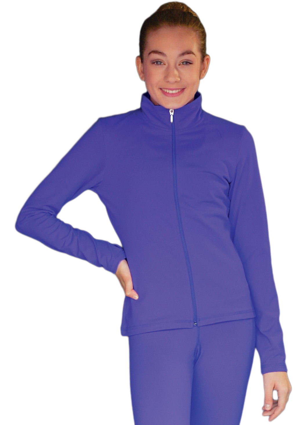 JT811 ChloeNoel Elite Fleece Fitted Jacket Periwinkle
