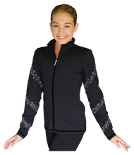 Load image into Gallery viewer, JS96X Crystal Spiral Jacket with Colour Zipper AB