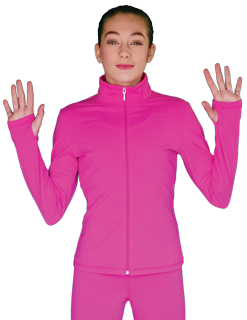 JS735 ChloeNoel Elite Solid Fitted Jacket Candy Pink