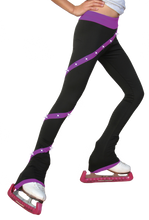 Load image into Gallery viewer, P06X ChloeNoel Crystal Spiral Pants Purple
