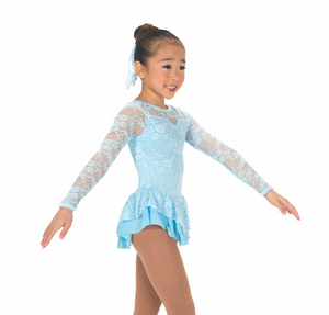 J175/16 Lace Palace Pastel Blue Dress - Child 10-12