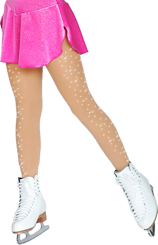 TF8830X(2) ChloeNoel Crystal Footed Tights Medium Tan