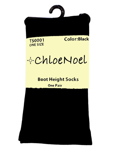 ChloeNoel Boot Socks Black
