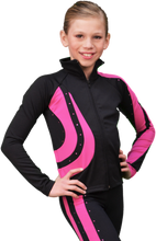Load image into Gallery viewer, J26X ChloeNoel Crystal Swirl Jacket Fuchsia