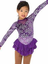 Load image into Gallery viewer, J019/17 Purple Triple Bow Dress - Child 8-10
