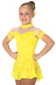 J024/17 Lemon Yellow Lacy Belle Dress - Child 10-12