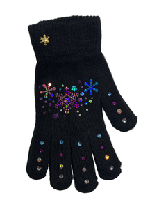Frozen Couture Star Gloves - Blue & Pink