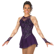 Load image into Gallery viewer, J73/17 Deep Purple Lace Every Place Dress
