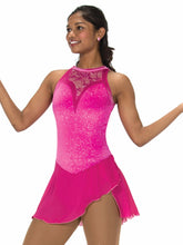Load image into Gallery viewer, J233/16 Lace Drop Fuchsia Dress