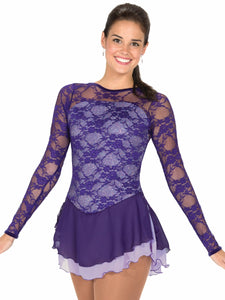 J79/15 Lace Over Lavender Dress - Child 12-14